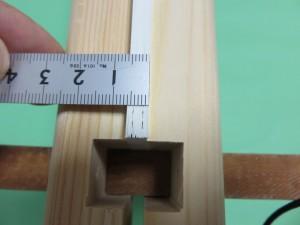 束の厚さを測ります