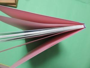 表紙、遊び紙、本文の順に並んでいます