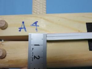 本文の厚さを測ります