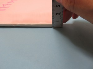表紙のついた段階で束厚を測ります